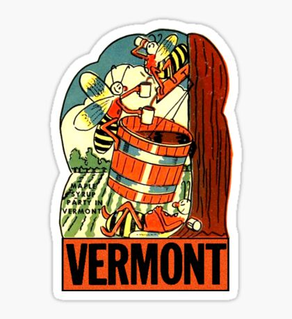 Vermont Maple Syrup Party Vintage Travel Decal Sticker