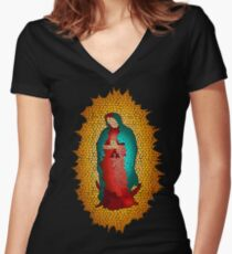 Guadalupe's Virgin Our Lady of Guadalupe Women's Fitted V-Neck T-Shirt