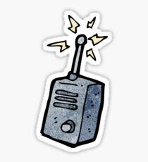 cartoon walkie talkie Sticker