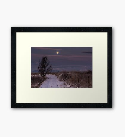 Moon Rise Melody Framed Print