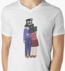 Camera Couple Men's V-Neck T-Shirt