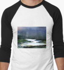 Icy white waters in forest black onyx mountains T-Shirt