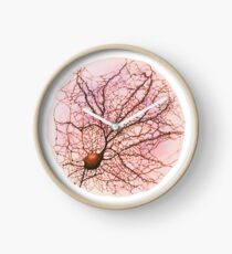Dendritic tree and spines of an hippocampal neuron - watercolour - Pink Clock