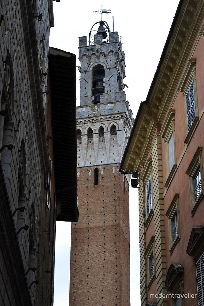 Tower between the buildings, Siena by moderntraveller