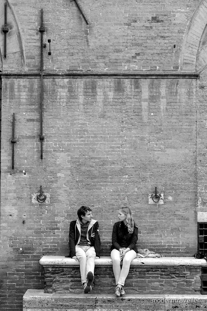 A monochrome pair in Siena by moderntraveller