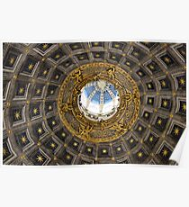 Ornate domed church roof, Siena Poster