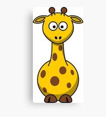 Cartoon Giraffe Canvas Print