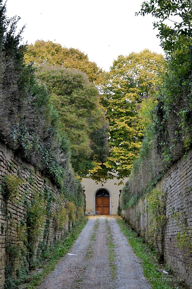 Walled driveway with plants, Siena by moderntraveller