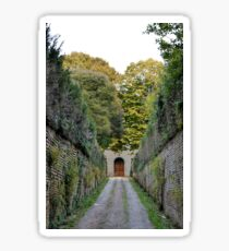 Walled driveway with plants, Siena Sticker