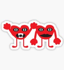 Red monstrous Sticker