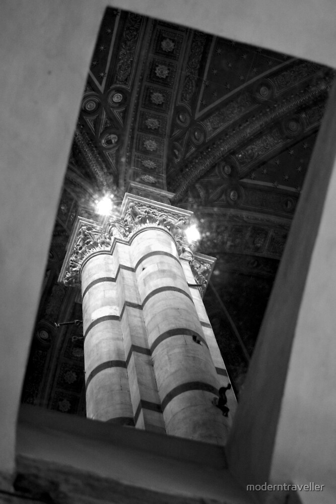 Marble column from below the ground by moderntraveller