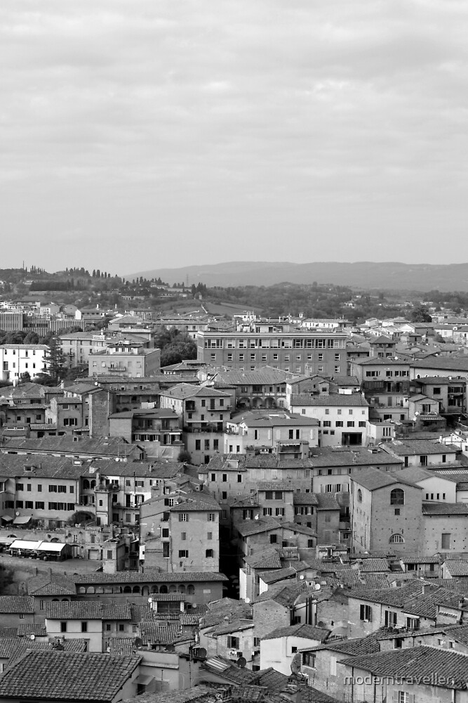 Monochrome rooftops - Siena, Italy by moderntraveller