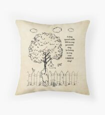 Winnie the Pooh - A Day Spent with You Throw Pillow