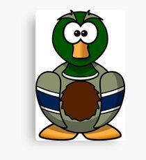 Cartoon Duck Canvas Print