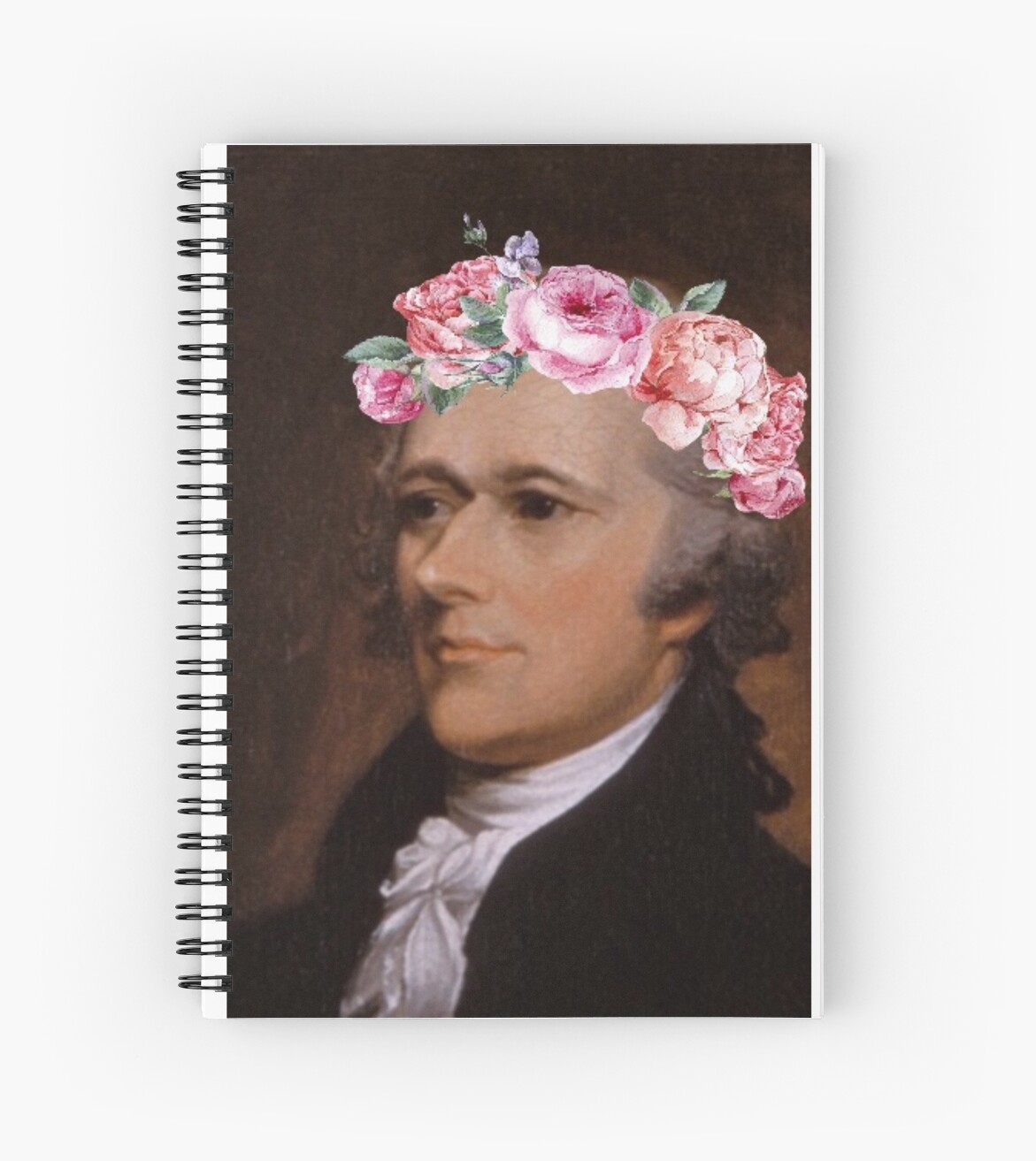 Alexander Hamilton Flower Crown Cute Spiral Notebooks By