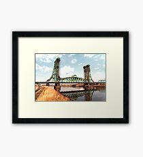 Newport Bridge. Framed Print