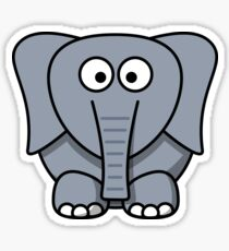 Cartoon Elephant Sticker