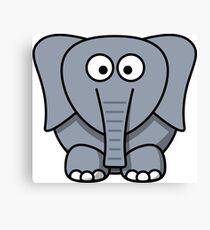 Cartoon Elephant Canvas Print