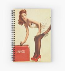 pin-up girl coca cola Spiral Notebook