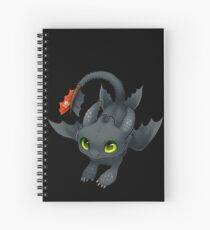 Chibi Toothless Spiral Notebook
