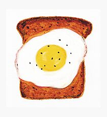 Egg on Toast Photographic Print