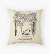 Winnie the Pooh - If you live to be 100 Throw Pillow
