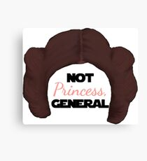 Not Pricness, General Leia Canvas Print