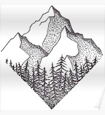 Appalachian Mountains Drawing Posters Redbubble