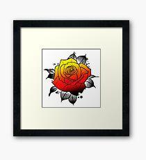 Tattoo Rose Framed Print