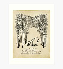 Winnie the Pooh - If you live to be 100 Art Print