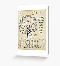 Winnie the Pooh - Today is my new favorite day Greeting Card