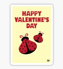 Children Valentines Ladybugs  Sticker