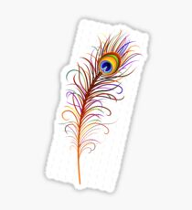Colorful Peacock Feather Sticker