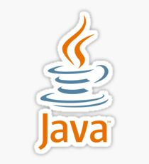 Java logo with text Sticker