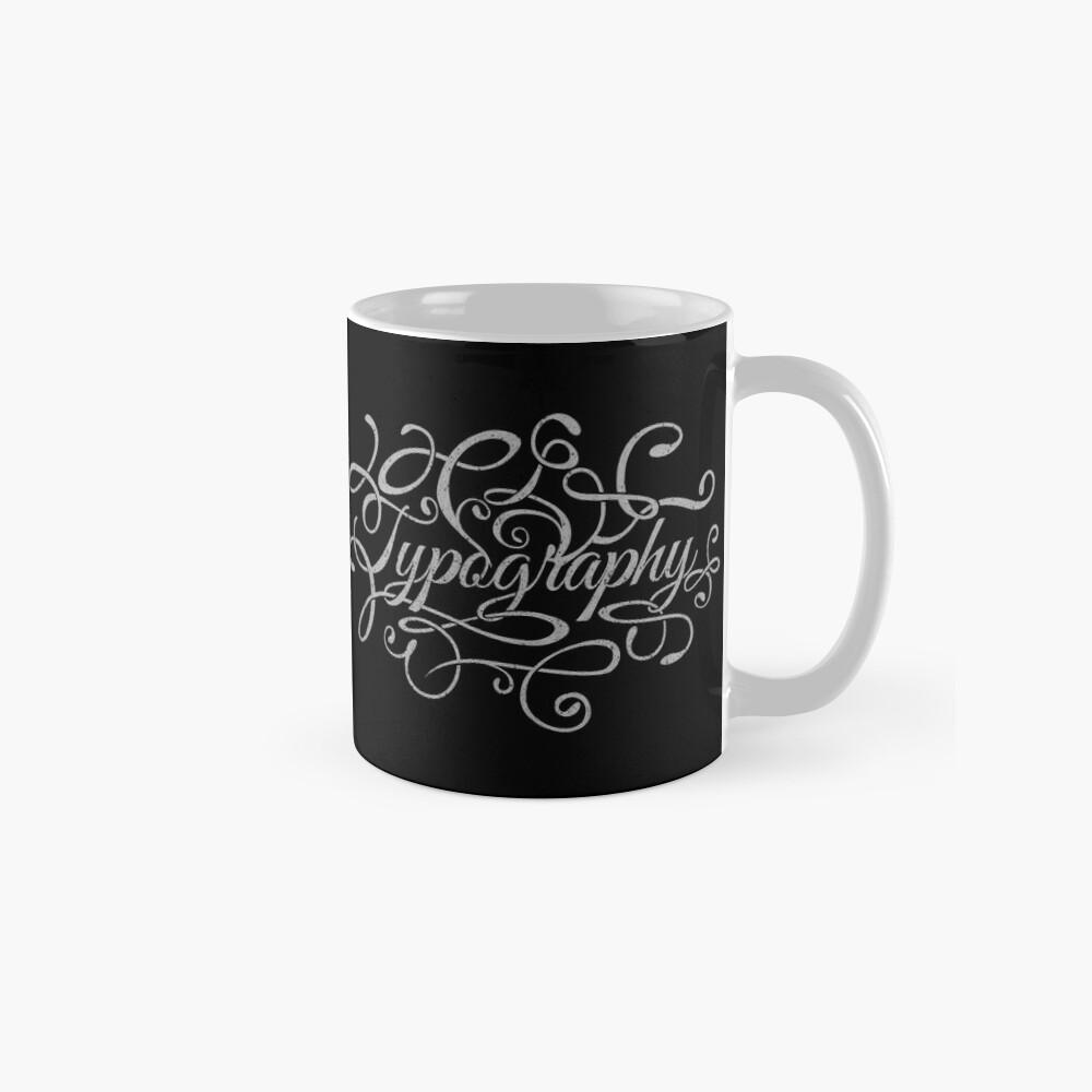 Typography on Typography Mugs
