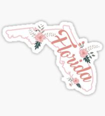 Florida Floral Roses Sticker