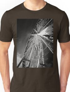 Black and white big wheel Unisex T-Shirt