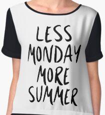 Less Monday, More Summer Women's Chiffon Top