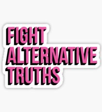 Pegatina Lucha contra las verdades alternativas (rosa)