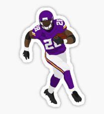 Adrian Peterson Run Art Sticker