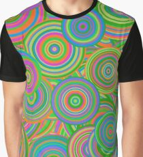 Psychedelic 60's Circles Graphic T-Shirt