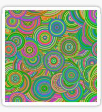 Psychedelic 60's Circles Sticker
