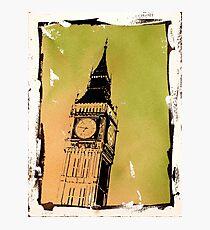 Big Ben watercolor painting- London, England Photographic Print
