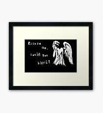 Tearful angel Framed Print