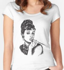 Icon: Audrey Hepburn Women's Fitted Scoop T-Shirt