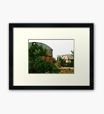 Abandoned barns, Donegal, Ireland Framed Print