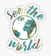 see the world map Sticker