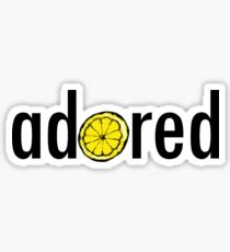 Stone Roses -  Adored Lemon Design Sticker