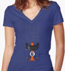 1969 Race Winner Women's Fitted V-Neck T-Shirt