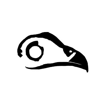 Bird Skull - Monochrome by sponk
